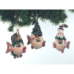 Christmas Kissing Fish Ornament