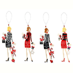 Christmas Tinsel Diva Ornaments