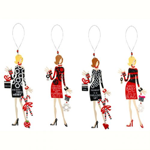 Christmas Tinsel Diva Ornaments