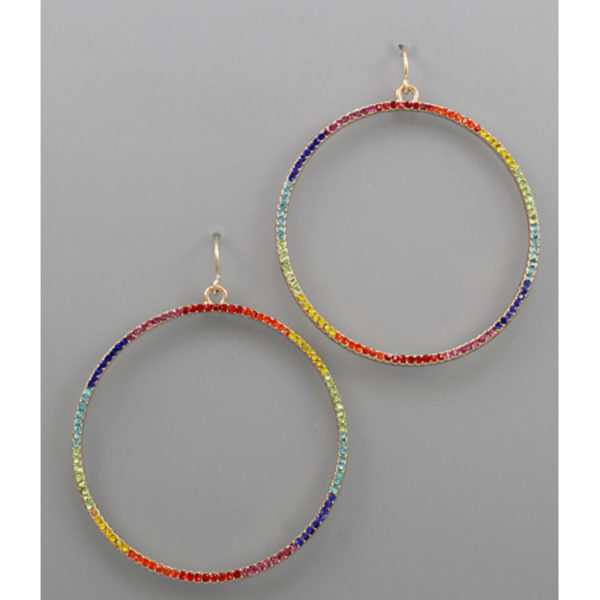 Circle Rainbow Earrings