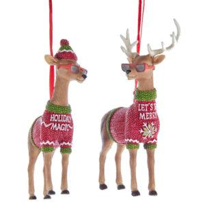 Cool Yule Deer Ornaments