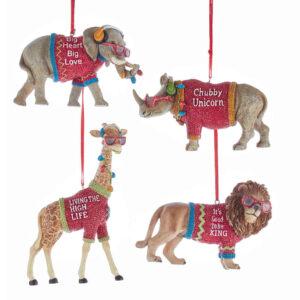 Cool Yule Jungle Animals Ornaments