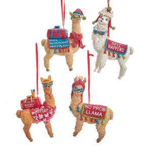 Cool Yule Llama and Alpaca Ornaments