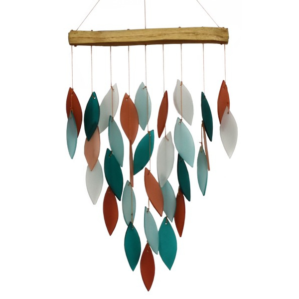 Coral and Teal Waterfall Chime