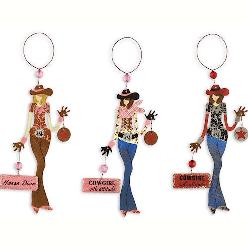 Cowgirl Diva Ornaments