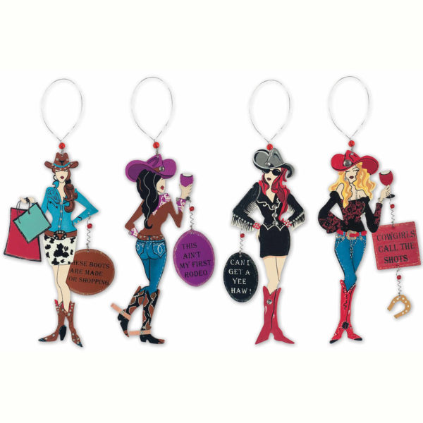 Cowgirl Ornament and Magnet