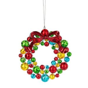 Crackled Paint Wreath Ornament