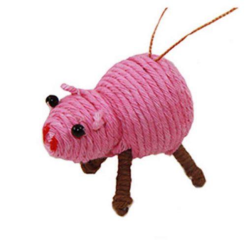 Cute Pink Pig Yarn Ornament