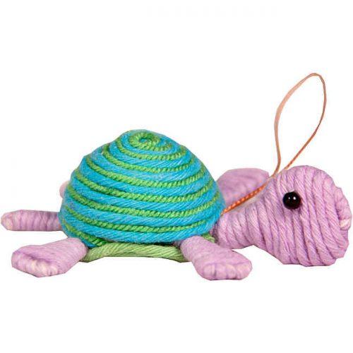 Cute Turtle Yarn Ornament
