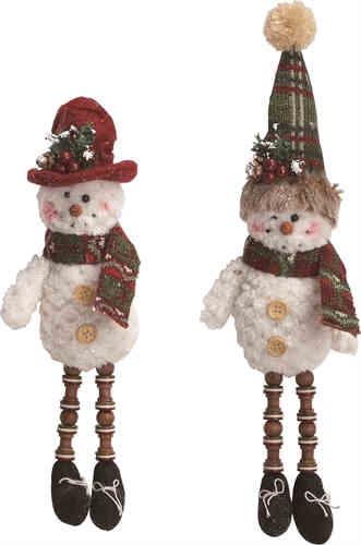 Plush Snowmen ornaments