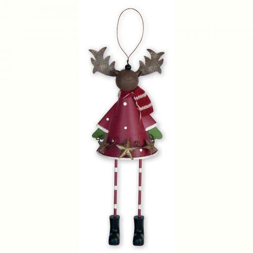 Winter Dangling Legs Reindeer Ornament