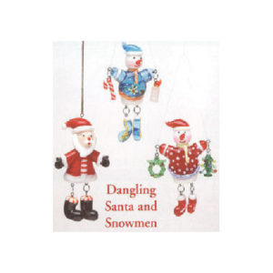 Dangling Santa & Snowman Christmas Ornament