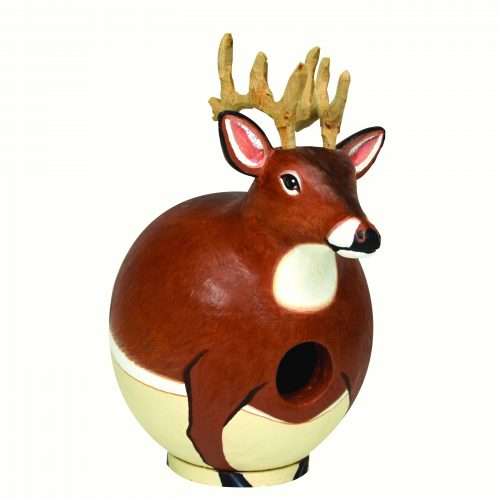 Gourd deer shaped birdhouse