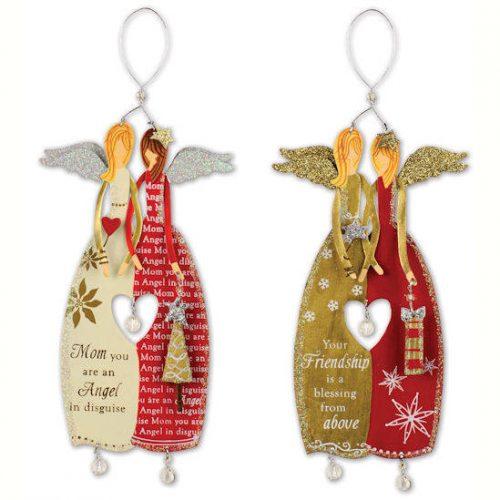 Embrace Angel Ornament