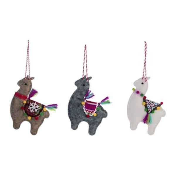 Felt Llama Ornaments