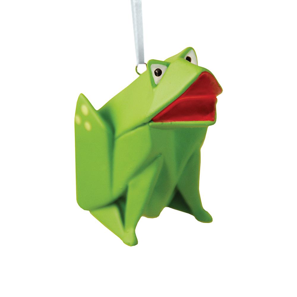 Origami Santa Ornament: Frog Origami Ornament