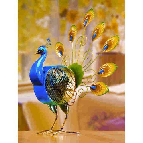 Electric peacock fan