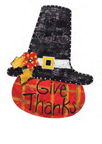 Give Thanks Pumpkin Door Decoration