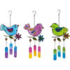 Glass Bird Wind Chimes