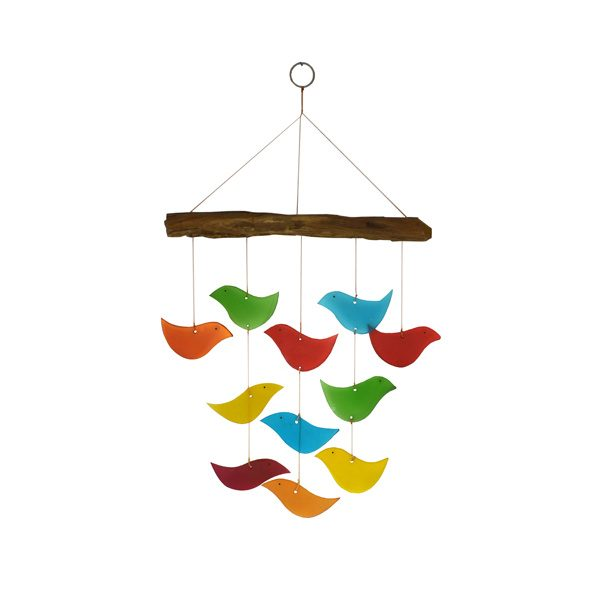 Glass Birds and Driftwood Chime