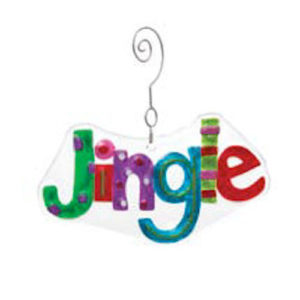 Glass Patterned Jingle Ornament