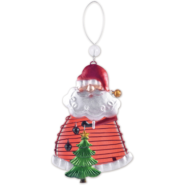 Glass Santa Ornament