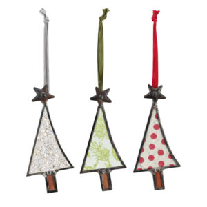 Glass Tree Shaped Ornaments