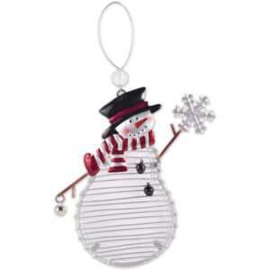 Glass Winter Snowman Ornament