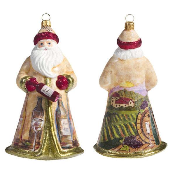Glitterazzi Vineyard Santa Ornament