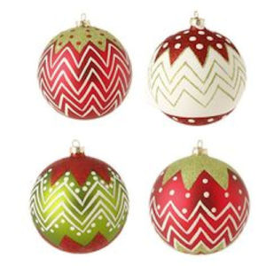 Glittered Ball Ornaments