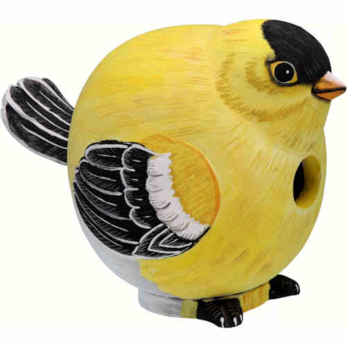 Goldfinch Shaped Birdhouse