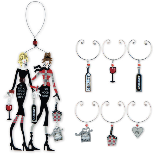Good Friends Ornament and Wine Charms