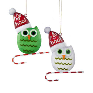 Green or White Snow Owl Ornaments