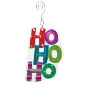HO HO HO Glass Ornament
