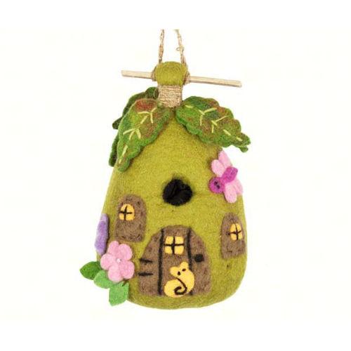 Handmade Fairy House Felt Birdhouse