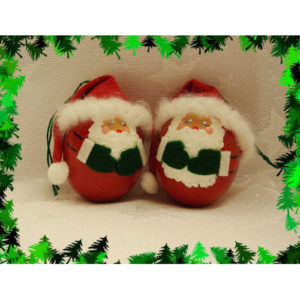 Handmade Jolly Santa Egg Christmas Ornament