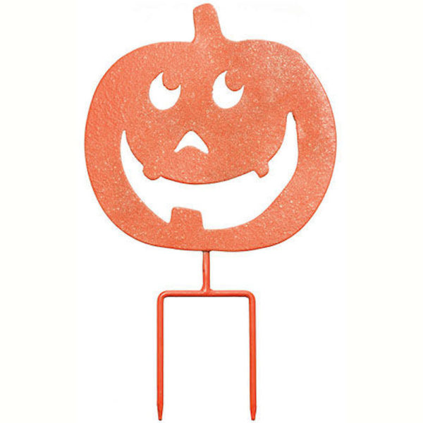 Metal Happy Pumpkin Yard Sign Decoration