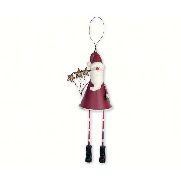 Happy Santa With Dangling Legs