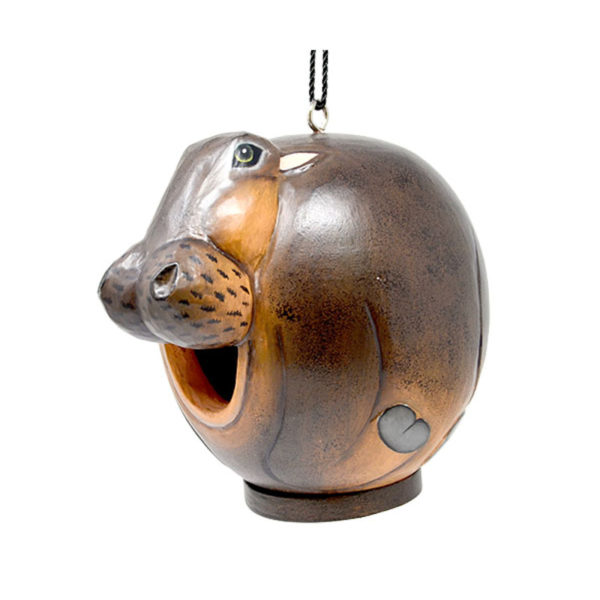 Hippo Shaped Birdhouse