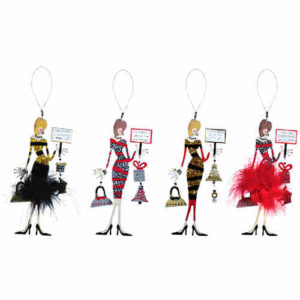 Holiday Diva Christmas Ornaments