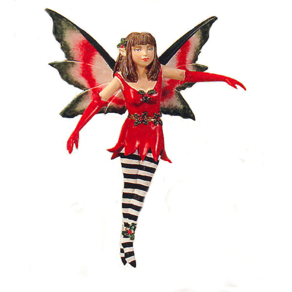 Holly Diva Fairy Christmas Ornament