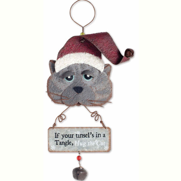 Hug the Cat Ornament