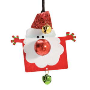 Hugging Santa Christmas Ornament