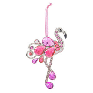 Jeweled Flamingo Ornament