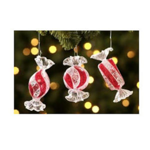 Jumbo Candy Christmas Ornaments