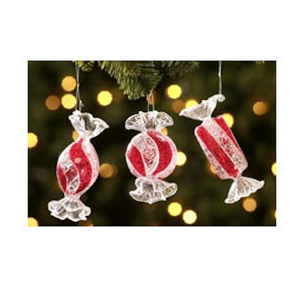 Jumbo Candy Christmas Ornaments