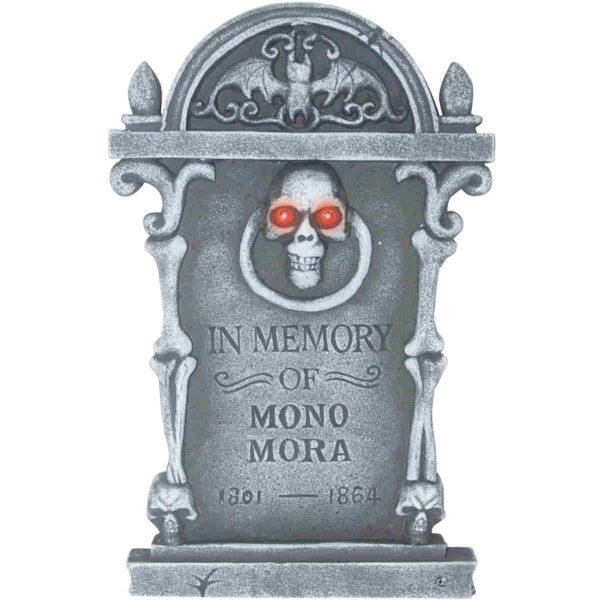 Light Up Skull Tombstone