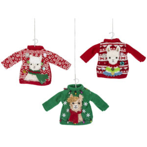 Llama Ugly Sweater Ornaments