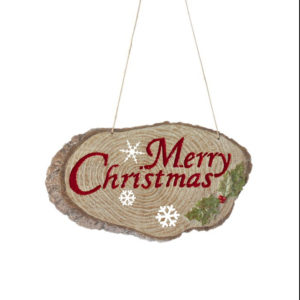 Merry Christmas Wood Ornament