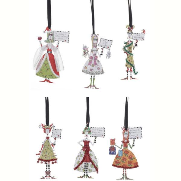 Metal Dolly Friend Ornaments